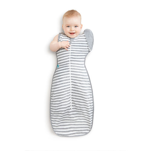 Love to Swaddle Up 50/50- Kapalopussi / Unipussi - Harmaaraitakuvio
